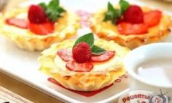 Яичные тарталетки с молочным чаем по-гонконгски