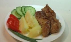 Мясные колбаски с начинкой из лисичек