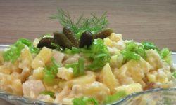 Салат из трески с хреном