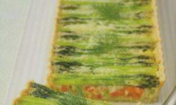 Пирог со спаржей и красным перцем