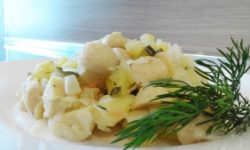 Грибной салат с картофелем