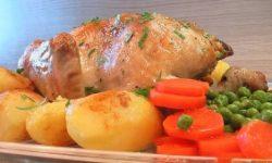 Курица запеченая в рукаве