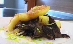 Картофель с солеными грибами