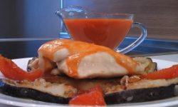 Филе курицы с баклажанами и помидорами