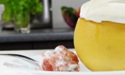 Грейпфрут с меренгой