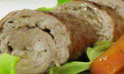 Говяжьи рулетики с молотым мясом