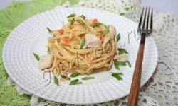 спагетти с курицей, приготовленные в одной посуде. Рецепт приготовления