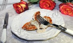 жареное куриное филе с молочным соусом. Рецепт приготовления