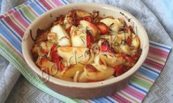 картофель, запечённый с овощами и соевым соусом. Рецепт приготовления