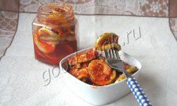 кабачки закусочные в томатном маринаде. Рецепт приготовления