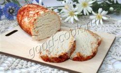 холодный куриный паштет с сыром. Рецепт приготовления