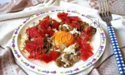 яичница с баклажанами. Рецепт приготовления