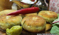 Биточки картофельные с сыром и зеленью