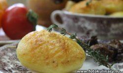 Картофель запечённый в духовке с хрустящей корочкой