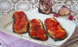 баклажановые язычки, запеченные с помидорами. Рецепт приготовления