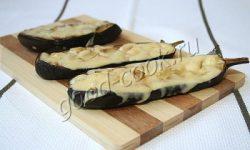 запеченные половинки баклажанов с сыром. Рецепт приготовления