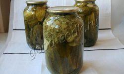 огурцы консервированные в собственном соку, рецепт приготовления