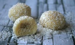 кокосовые шарики на сухом молоке. Рецепт приготовления
