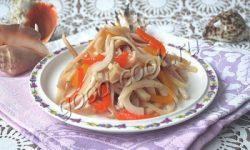 маринованные кальмары с болгарским перцем. Рецепт приготовления