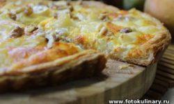 Французский тарт с грушами и сыром
