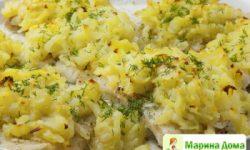 Рыба с картошкой или треска, запеченная в картофельной корочке