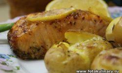 Запечённая рыба с картошкой по-португальски